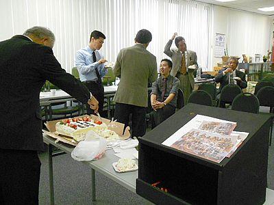 Cake and socializing